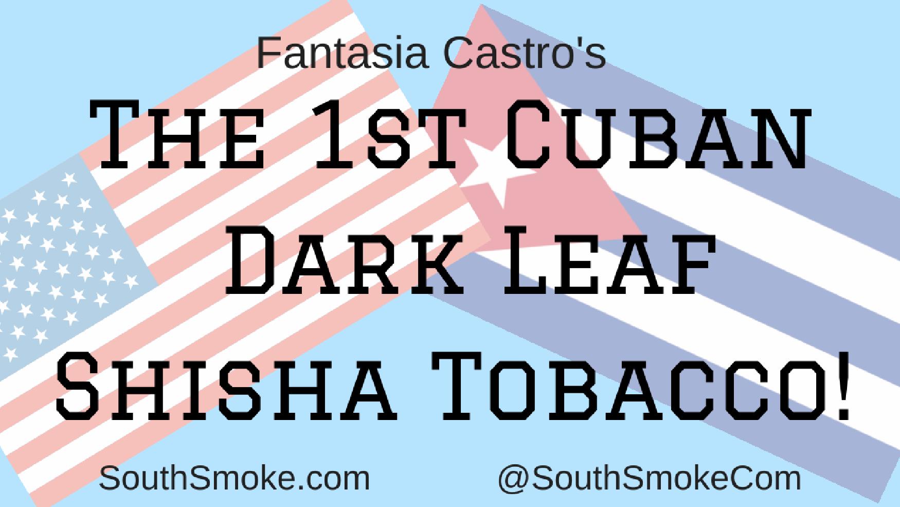 Fantasia Castros Cuban Dark Leaf shisha tobacco