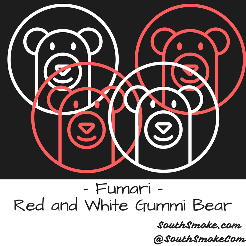 Fumari Red Gummi Bear White Gummi Bear Flavors