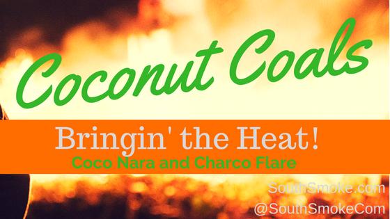 coconut coals bringing the heat