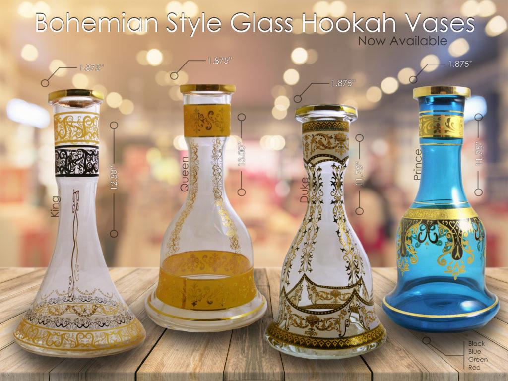 Bohemian Style Glass Hookah Vases